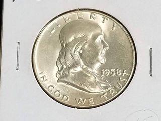 1958-D FRANKLIN HALF DOLLAR BU