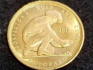 2015 1/10th OZ. .999 FINE GOLD PROSPECTOR