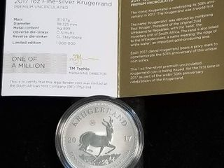2017 SOUTH AFRICA MINT SILVER PROOF KRUGERRAND