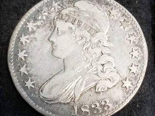 1833 US BUST HALF DOLLAR