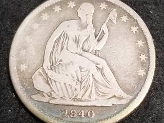 1840 US SEATED LIBERTY HALF DOLLAR BETTER DATE COIN