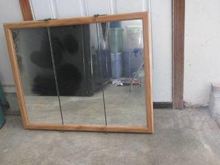 Tri fold wall mount medicine cabinet 32 W x 26 T
