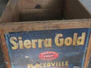 Vintage wood fruit crate 12 W x 9 T x 19 5 l
