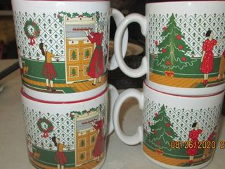 4 made in England coffee cups