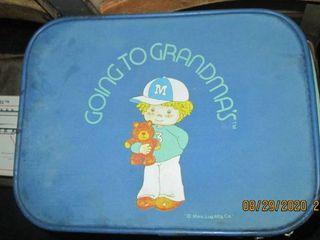 Vintage Going to Grandma s luggage