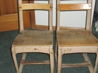 2 Vintage kintergarden chairs wood and metal