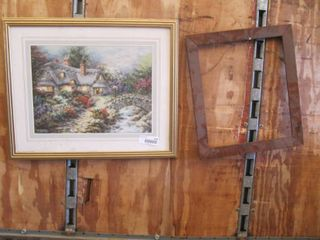 Nicky Bochme picture print with vintage frame