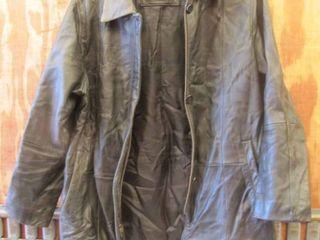 ladies size M  Fourteen Zero  black leather jacket