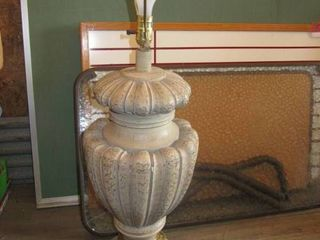 Pottery lamp about 30  tall