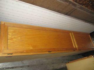Oak wall kitchen cabinet 18 W x 84 l