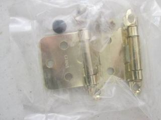 18 polished brass self closing cabinet hinges