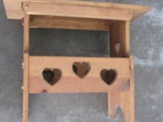 wood side table 11 5 W x 20 T x 24 l