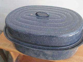 Granite roasting pan 19  with lid