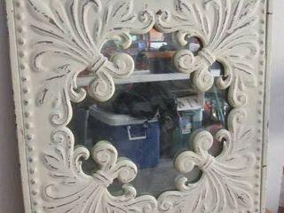 19  square heavy metal mirror