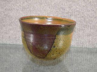 Vintage Georgia Studio Art Pottery Bowl lady Bug Signed   Signed on Bottom   6