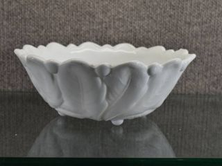 Vintage Milk Glass Patterned Bowl   9