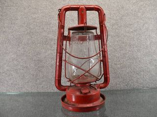 Vintage Dietz Fitzall NY USA Oil lantern   Monarch Railroad   Glass and Metal   13  Tall