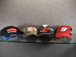 lot of 4 Nascar Ball Caps  9   20   97   28   Tony Stewart  Ricky Rudd