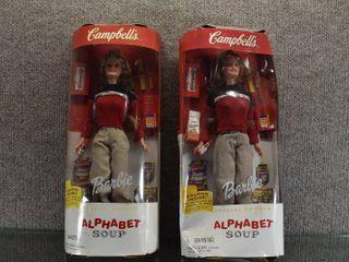 lot of 2 Vintage Barbie Campbells Soup Dolls   11  Tall