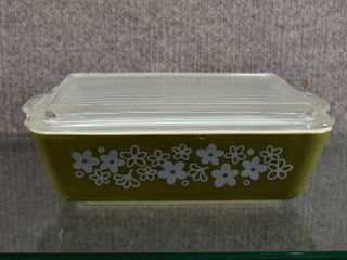 Vintage Pyrex Casserole Dish w lid   1 1 2 Qt   Spring Blossom Pattern  11