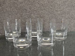 Set of 5 Marquis Rock Glasses   3 3 8  Tall