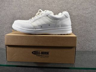 New Bell Horn White Tennis Shoes  Dr Comfort Gel Inserts  Shoe Horn   New in Box    Size 12