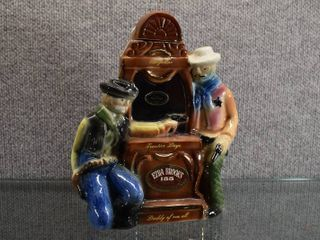 Vintage Ezra Brooks 1970 Frontier Days Decanter   Heritage China FZ 7   9 1 2  Tall