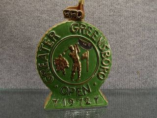 Vintage Ezra Brooks 1972 Greater Greensboro Open Decanter   Golf Bottle   10  Tall