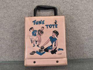 Vintage Tune Tote 45 lp Holder   7  x 10