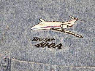 Used Beechjet 400A Blue Jean Shirt Size XXl