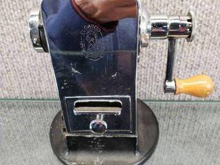 Vintage Eibar El Gasco Precision Pencil Sharpener   Works   Has a Catch Drawer   6  Tall