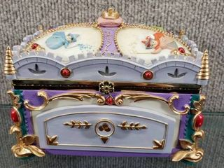Vintage 1959 Wonderland Music Company Musical Jewelry Box   Wind Up Knob Does Not Work   6  x 4