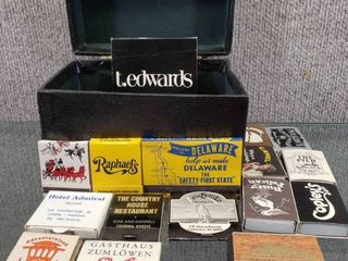 Vintage Box with Collector Matchbooks   Boxes   Some Matches are Wood
