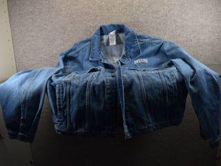 Dallas Cowboy Jean Jacket Size large   Ultimate Sports 100  Cotton