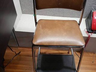 Vintage Cosco Folding Step Stool   Chair   Retro Style   Very cool    32  Tall