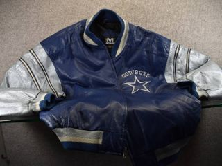 Dallas Cowboy leather Jacket Size Xl   Made by Mirage 100  leather