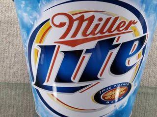 Miller lite Beer Tin Bucket w Handle   8 1 2  Tall