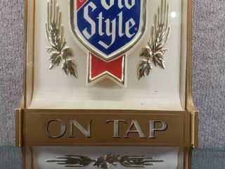 Vintage Heileman s Old Style lighted On Tap Beer Sign Works    Works Good    17  x 10 1 2