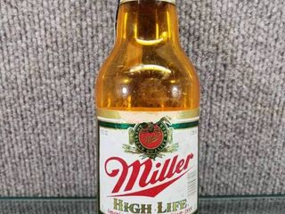 Vintage 1989 Miller High life Wall Hanging Beer Bottle   Miller Brewing Company Promotion   8  Tall