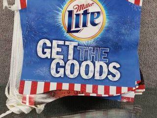 Vintage Miller lite Beer Get The Goods Banner   Approximately 26 ft Wide