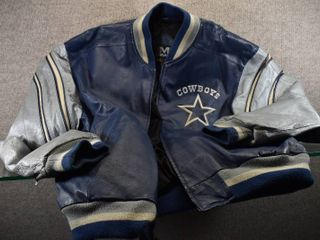 Dallas Cowboy leather Jacket Size Med   Made by Mirage 100  leather