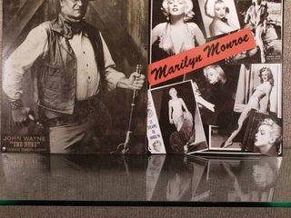 lot of 2 John Wayne   Marilyn Monroe Metal Signs   Hollywood Memorabilia   12  x 15  12 1 2  x 16