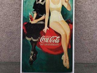 Coca Cola Metal Sign 1886 1936   8 1 2  x 16