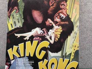 King Kong Movie Sign   12 1 2  x 17 1 2