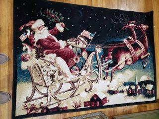 Santa Christmas Area Rug   Great Holiday Rug   55  x 35
