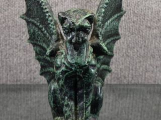 Cast Iron Gargoyle Statue Candle Holder   9  Tall x 8  Wide