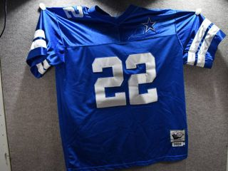 NFl E  Smith Jersey  22   100  Polyester Mitchell   Ness
