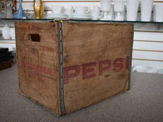 Vintage Wood Pepsi Crate   14  X 12