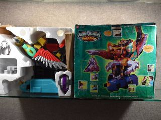 Vintage Power Rangers Wild Force Deluxe Isis Command Megazord Playset   Deluxe Temple Ruins Playset