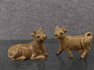 Vintage lugene s Cow Salt   Pepper Shakers   Made in Japan